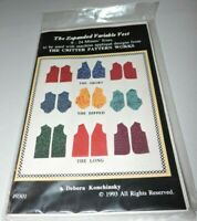 Sewing Pattern Expanded Variable Vest Sz 8-24 Konchinsky Critter Pattern Works