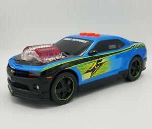 "2010 Road Rippers Chevrolet Camaro Race Car Bluish Music Sound & Light 11"" 🚔🚔"