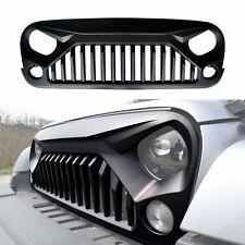 Front Matte Black Angry Bird Grill For 2007-2017 Jeep Wrangler New Free Shipping