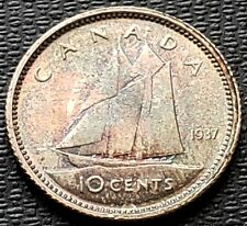1937 Canada Silver 10 Cent Dime ***MS-65 Condition*** Amazing Detail