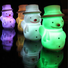 Lovely Snowman Night Light Colour Changing LED Night Lamp Decoration Xmas Gift
