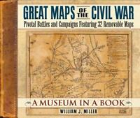 Great Maps of the Civil War: Pivotal Battles and Campaigns Hardcover Book New