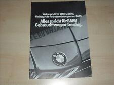 63070) BMW - Gebrauchtwagen Leasing - Prospekt 02/1981