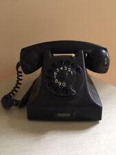 1958 vintage ROTARY Telephone phone ERICSSON RIJEN PTT antique RARE bakelite