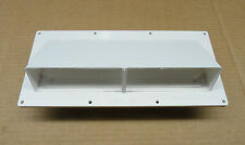 NEW - RV/Camper - Stove Vent With Hinged/Lockable Damper, SMOOTH WHITE FINISH