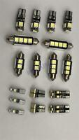 17x LED Car Interior Light Kit for Map/Dome/Footwell/ Glove Box/License Plate
