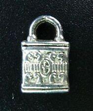 40pcs Tibetan Silver Ornate Padlock Charms T90