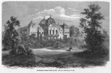 Gödöllö, Hungary, Lust Castle, Sisi Empress Austria, Original Wood Engraving 1867