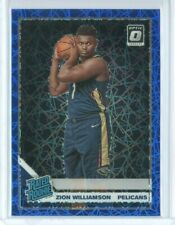 Zion Williamson 2019/20 Donruss Optic Blue Velocity Parallel Rookie RC Pelicans!