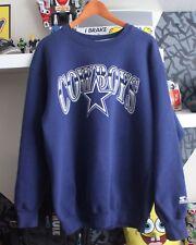 Vintage Dallas Cowboys Starter Crewneck Sweater Original NFL Sportswear Large