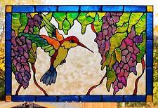 HUMMINGBIRD BIRD WINDOW CLING STAINED GLASS EFFECT DOOR GLASS DECORATION DECAL