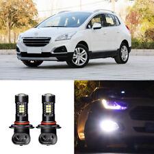 Canbus H11 3030 21SMD LED DRL Daytime Running Fog Lights Bulbs For Peugeot 3008