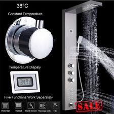 Duschpaneel mit Thermostat Edelstahl Duschsäule Regendusche Massage Duscharmatur