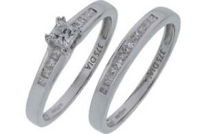Everlasting Love 9ct White Gold 0.50ct Diamond Bridal Set-O rrpp £889