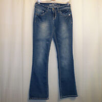"""Wallflower Flare Jeans Women's Junior's Size 5 Blue 30 1/2"""" Inseam"""