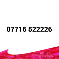 07716 522226 EASY MOBILE NUMBER PAY AS YOU GO SIM CARD UK GOLD PLATINUM VIP