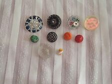 New listing 10 Antique / Vintage Buttons Very Unique Mop Composite Glass Must See Pics