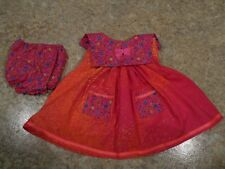 """VINTAGE CHATTY CATHY 18-20"""" NEW HANDMADE 2 PC PINK-ORANGE SPLASH-FLORAL OUTFIT"""