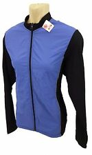 Halfords WOMEN'S Road Mountain Bike Manica Lunga Jersey dinamico Blu/Nero Piccolo
