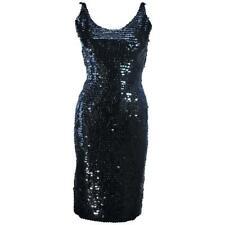 BULLOCKS Black Sequin Cocktail Dress Size 6