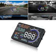 A8 Car Hud Head Up Display Obd Ii Obd2 Auto Gauge 55 Dash Screen Projector