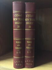 Lot Of 2 Abbott New York Digest 2d Words And Phrases A-K, L-Z
