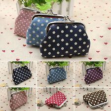 Women Girl Polka Dot Wallet Key Card Holder Clutch Pouch Coin Purse Handbag Bag