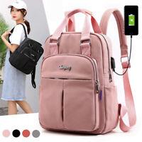 US Waterproof Classic Backpack Women School Bags Students Travel Laptop