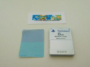 Official Sony PlayStation 2 PS2 Satin Silver 8MB Memory Card SCPH-10020