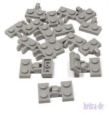 LEGO - 10 X PIASTRA Giunto/Cerniera Grigio chiaro 1x2 su 1x2/60471 44567 Merce Nuova