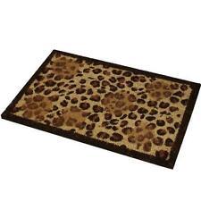GRANDE 70 x 40 cm fantasia leopardata ingresso in / per esterni tappetino 100%