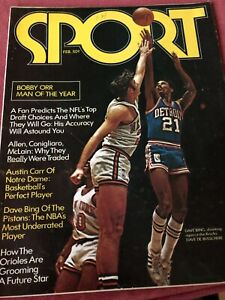 Sport Magazine February 1971 Bobby Orr Man of the Year Dave Bing Austin Carrexpe
