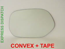 Left Side For TOYOTA FUN CARGO 1999-2003 Convex Wing Mirror Glass + Tape /JT016