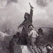 Gravure XIXe Insurrection Madrid Campagne d'Espagne Napoleon Bonaparte Empire