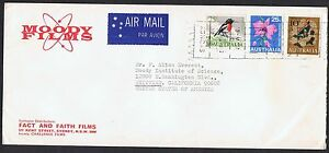 1966 10c Fish, 25c Robin & 1968 25c Orchid on 1968 airmail cover to the USATS926