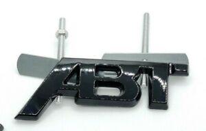 New Style ABT Gloss Black Front Grill Badge Emblem Audi Seat Skoda