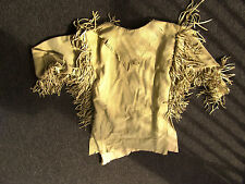 Custom made leather Mens Mountain Man Hand sewn Buckskin Shirt