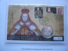 Gibraltar 2008 £5 Pound Silver Proof Crown Coin Cover - Elizabethan Era #444