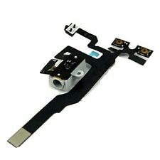 New iPhone 4S Handsfree Audio Jack Volume Switch Flex  Headphone Cable WHITE UK