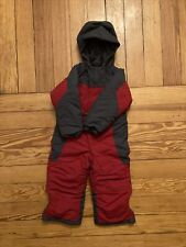 Ll Bean 3t Red Grey Boy Girl Snowsuit Winter