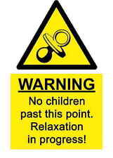 A5 Comedy Workplace No Children Sticker- Spillage Hazard Chemical Accident Sign