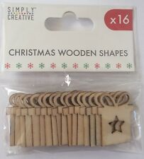 Simply Creative Wooden Christmas Present Shapes x16
