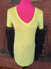 Victoria's Secret Yellow Tee Size Large Ok-1056