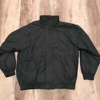 Ozzo Sport Fleece Lined Full Zip Jacket Men's Size Medium Green