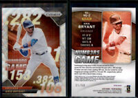 2020 PRIZM NUMBERS GAME NG2 KRIS BRYANT Blue Wave #d 31/60 Chicago CUBS