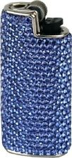 MINI BIC Feuerzeughülle blau Swarovski Elements voll besetzt + BIC Feuerzeug NEU