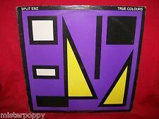 SPLIT ENZ True Colours LP AUSTRALIA 1979 MINT- Mushroom Label Purple/Yellow Cvr