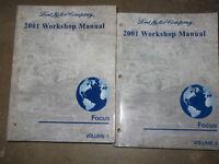 2001 FORD FOCUS Service Repair Shop Workshop Manual Set FACTORY OEM 2001