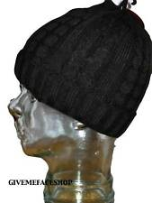 BNWT ETHOS BLACK ROLEY KNITTED BEANIE WOOLY HAT/CAP WINTER CABLE, MENS LADIES