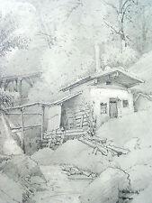 Rudolf Schick 1840-1887 (zugeschr.) / Zeichnung Berg-, Erzwerk Alpen / um 1865